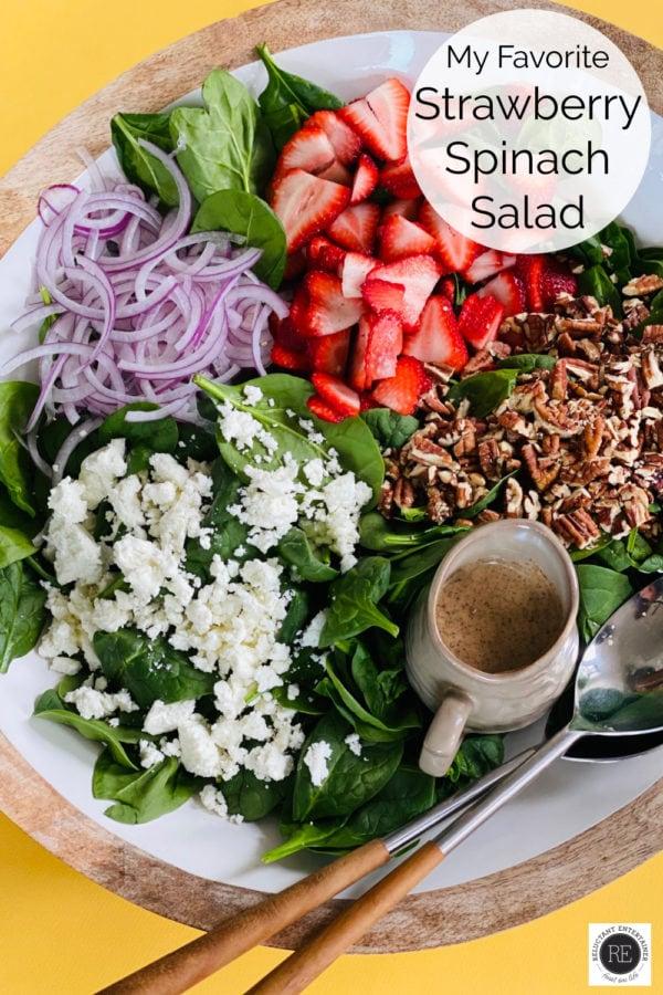 My Favorite Strawberry Spinach Salad Recipe