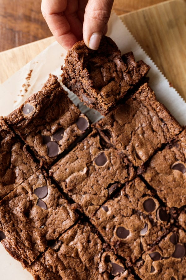 squares of Mexican Chocolate Brownies Recipe
