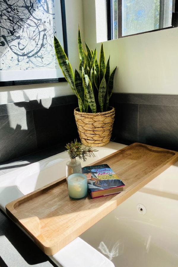The Big Board as a bathtub caddy