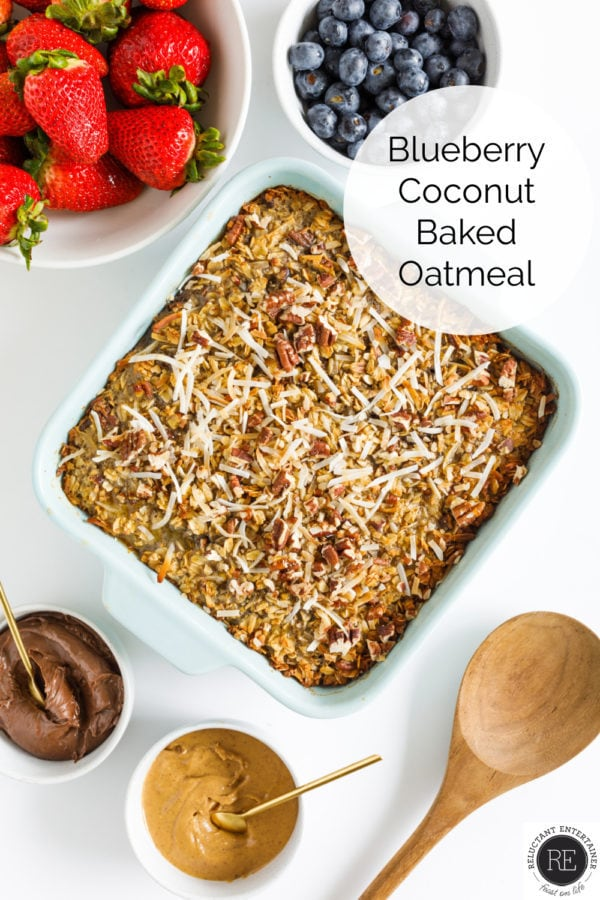 Blueberry Coconut Baked Oatmeal Recipe