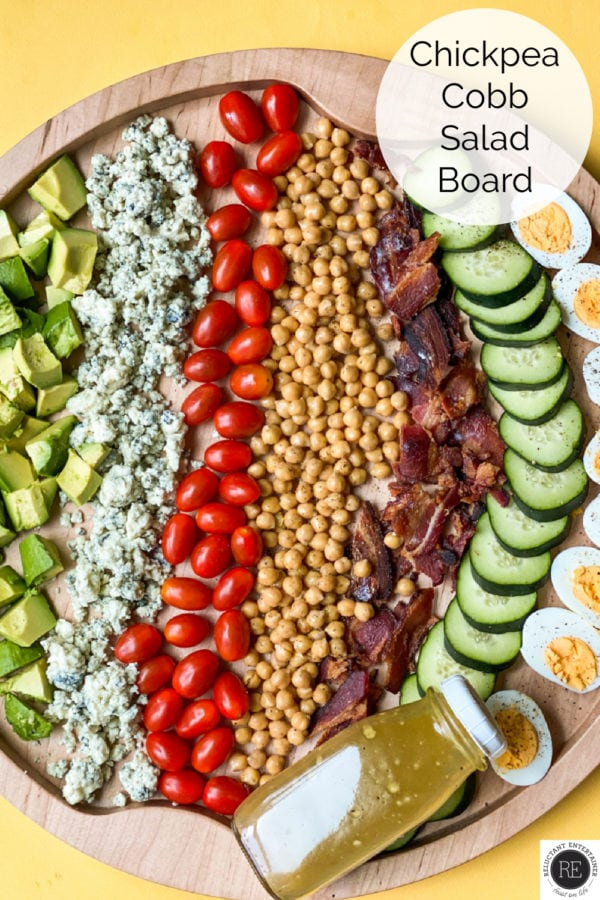 rows of Chickpea Cobb Salad