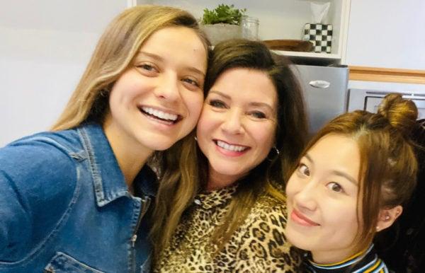 3 women smiling
