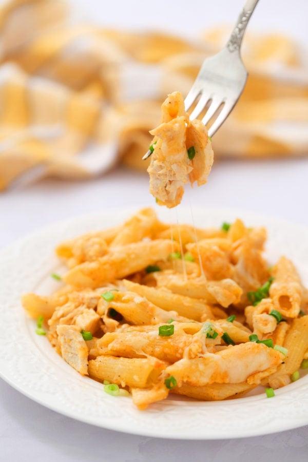 bite of chicken pasta