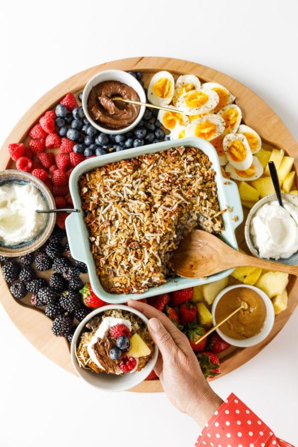 Baked Oatmeal Breakfast Board