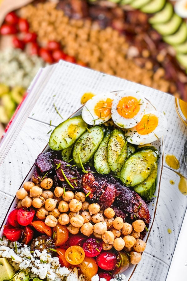 Everyday Dinners Chickpea Cobb Salad Board