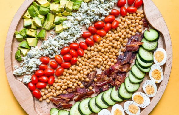 Chickpea Cobb Salad Board deconstructed
