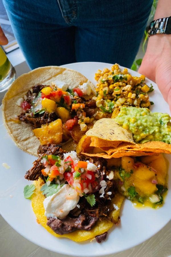 beef tacos with mango salsa