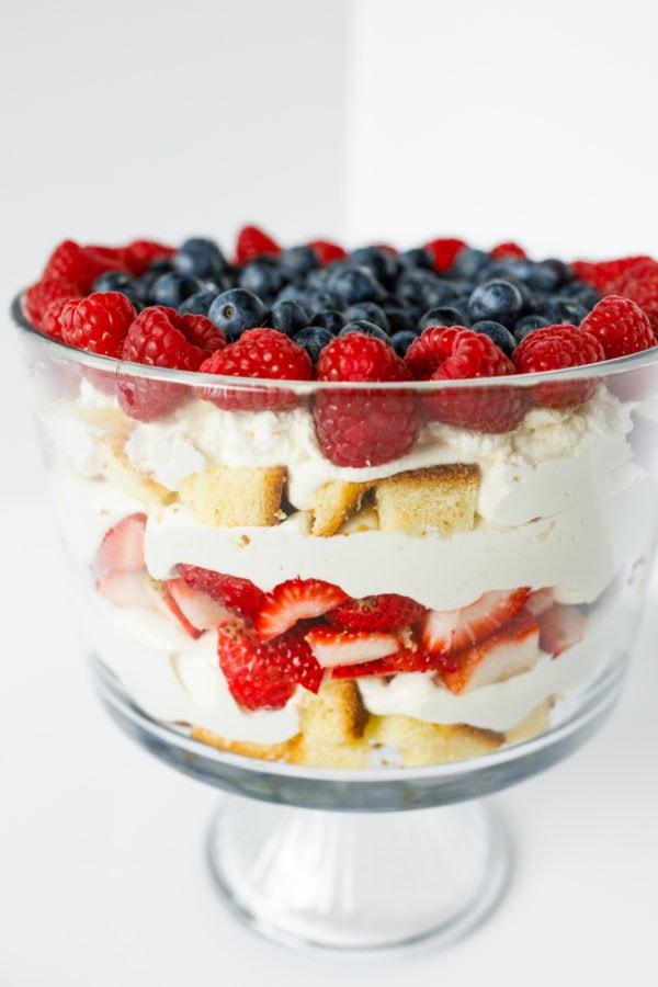 Best Strawberry Trifle in parfait bowl