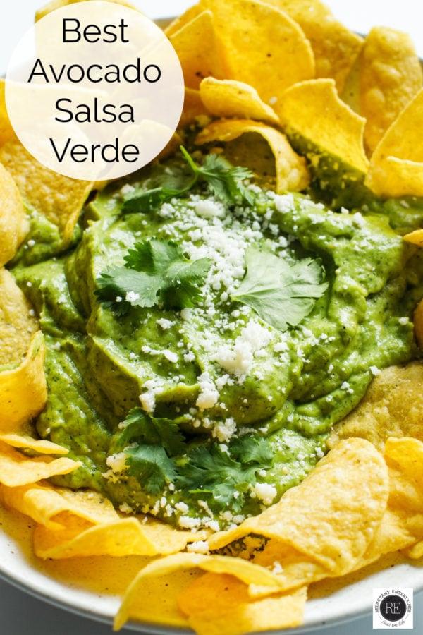 bowl of Avocado Salsa Verde