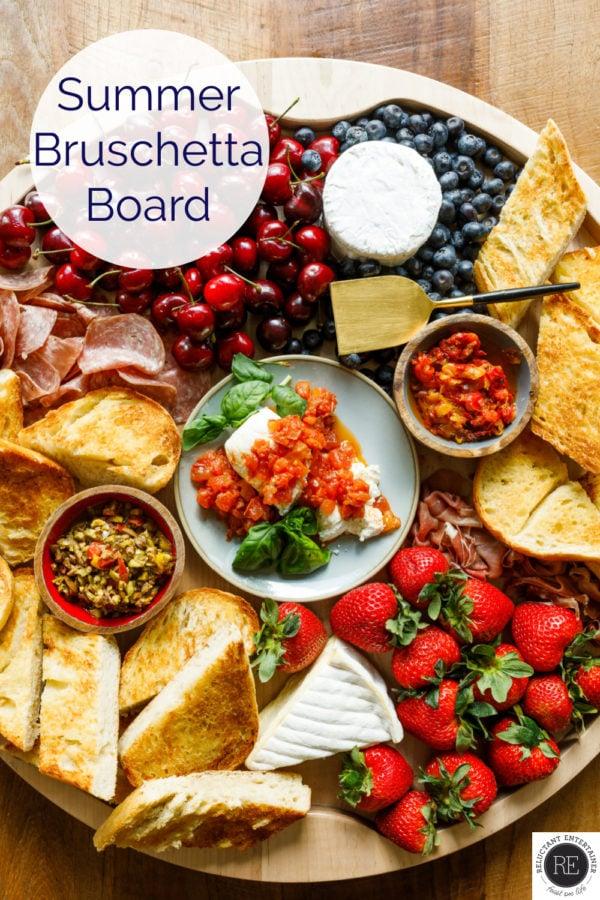 Patriotic Delallo Summer Bruschetta Board