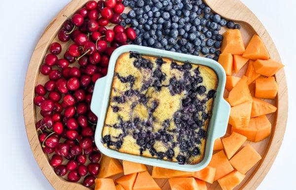 blueberry breakfast cake board
