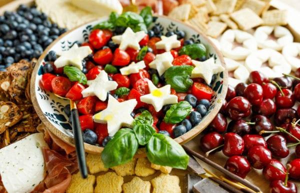 patriotic caprese salad
