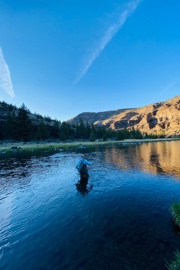 fly fishing Crooked River, OR