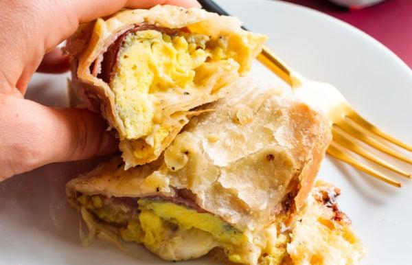 close up Monte Cristo Burrito