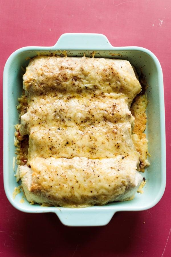 8x8 pan of Monte Cristo Burrito Bake
