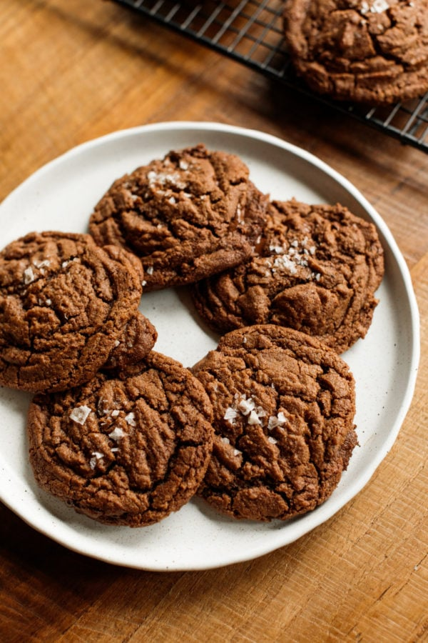 plate of Peanut Butter Nutella Chocolate Cookies