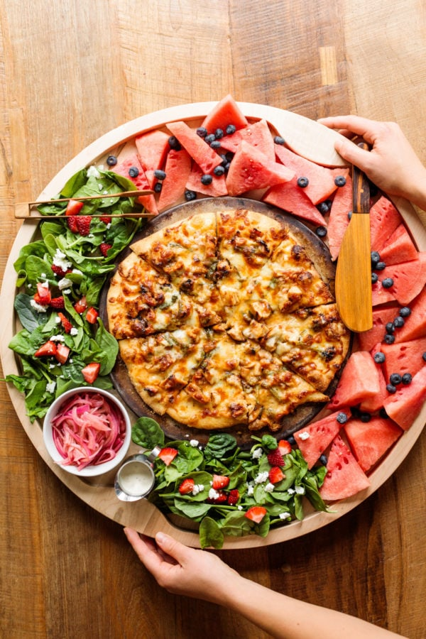 Barbecue Chicken Pizza Board