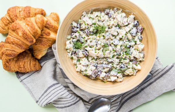 Classic Chicken Salad with croissants