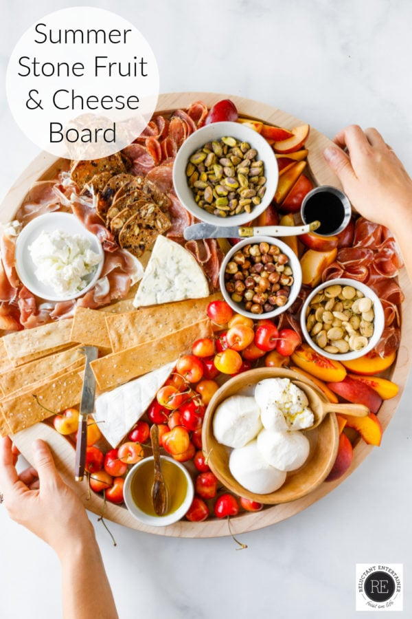 beautiful Summer Stone Fruit Cheese Board