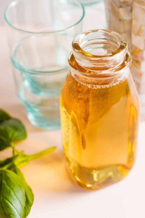 easy Vanilla Basil Sugar Syrup