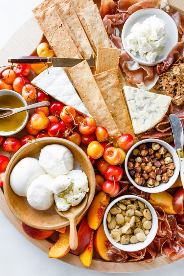 Summer Stone Fruit Cheese Boards