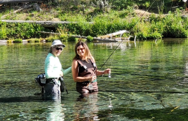 fly fishing on Fall River