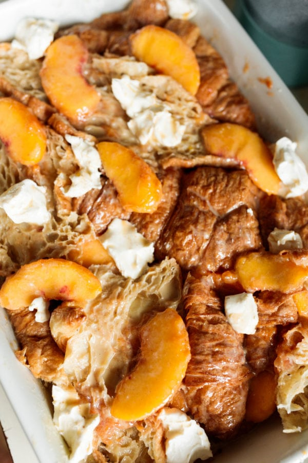 how to make Peaches and Cream Bread Pudding