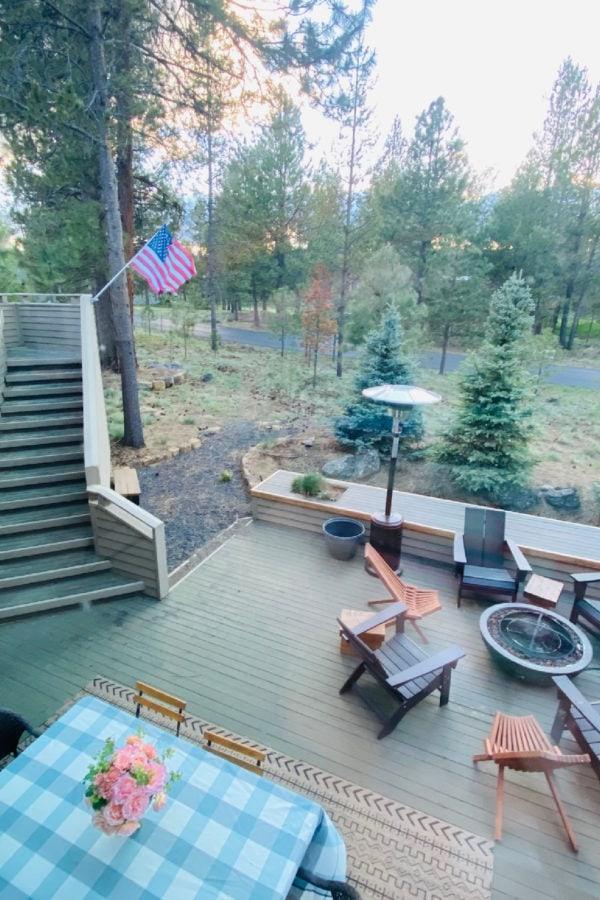 backyard with table
