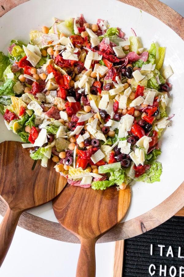 bowl of Italian chopped salad