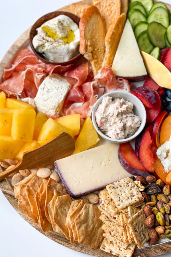 Quick Summer Cheese Charcuterie Board