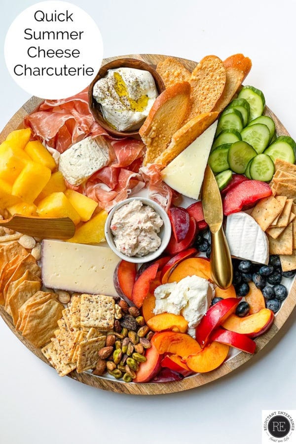 beautiful Quick Summer Cheese Charcuterie