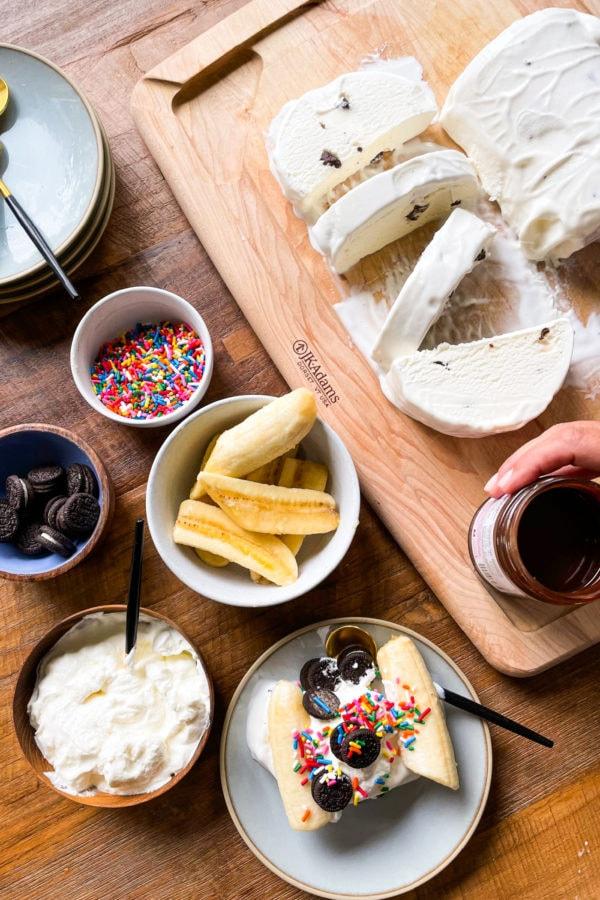 ingredients for Slice Cream Sundaes Recipe