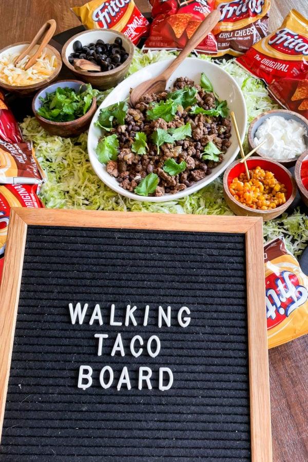 walk taco board sign