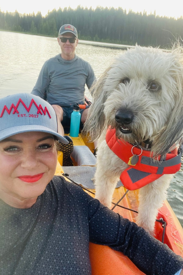 kayaking with whoodle