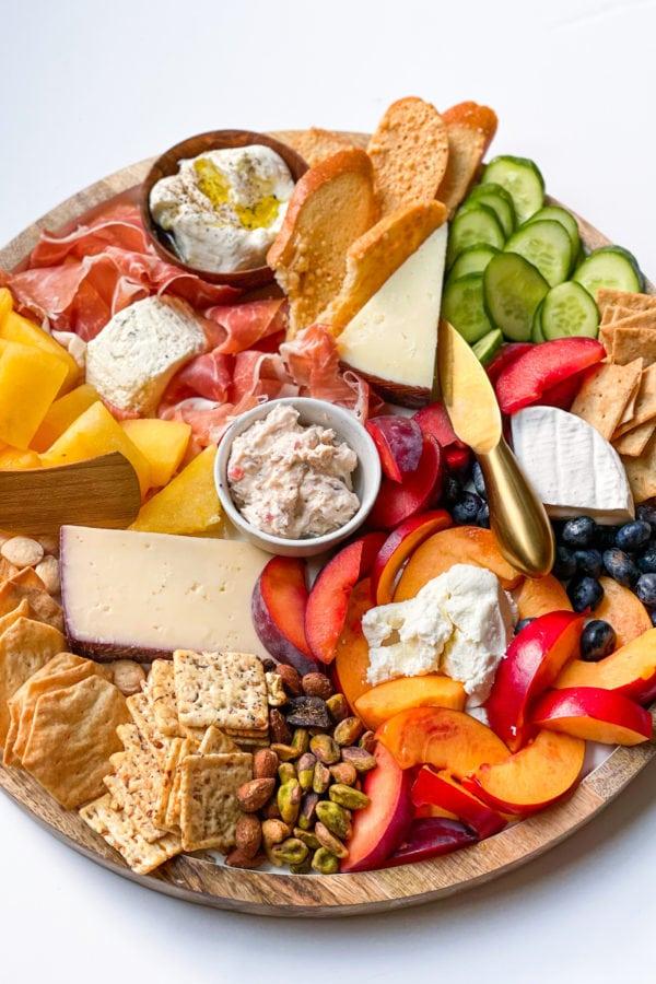 summer fruit cheese board