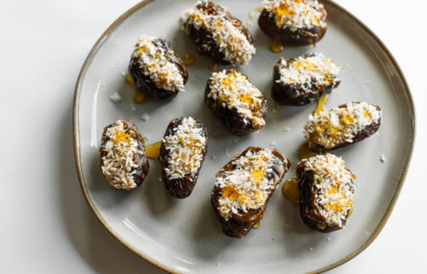 stuffed dates with peanut butter