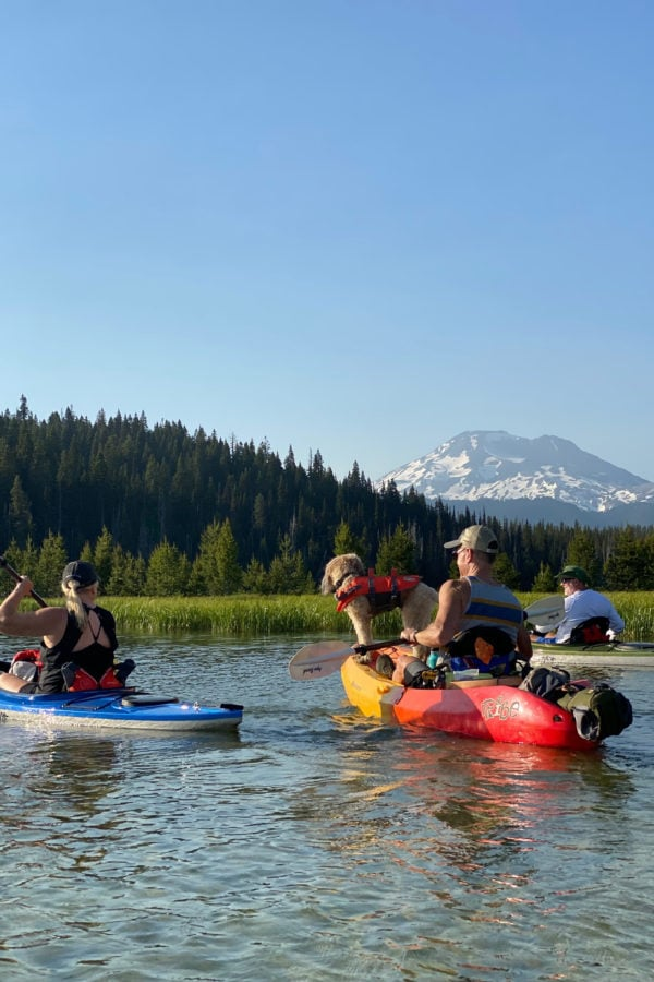kayaking on hosmer lake