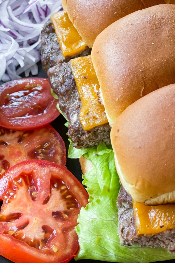 mini cheeseburger sliders