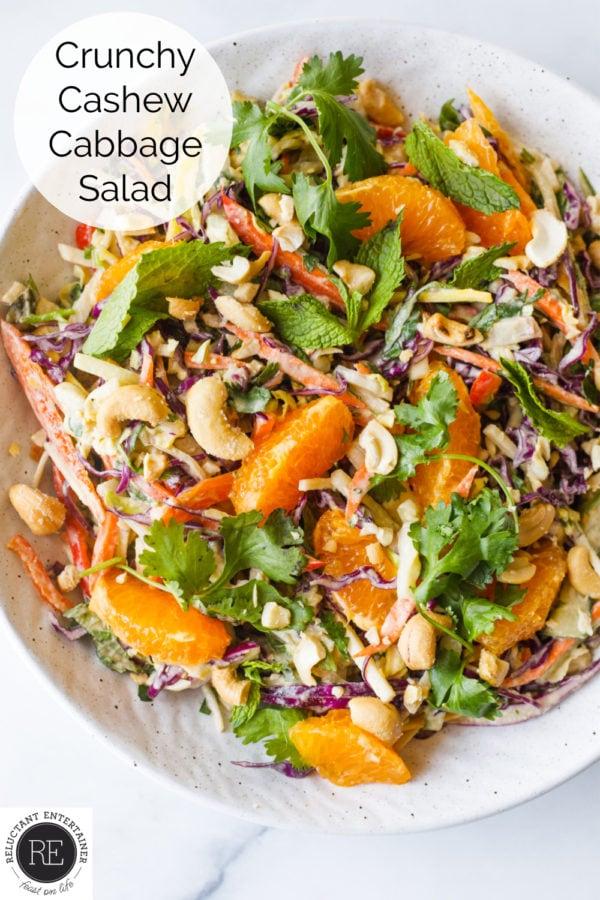 Crunchy Cashew Cabbage Salad
