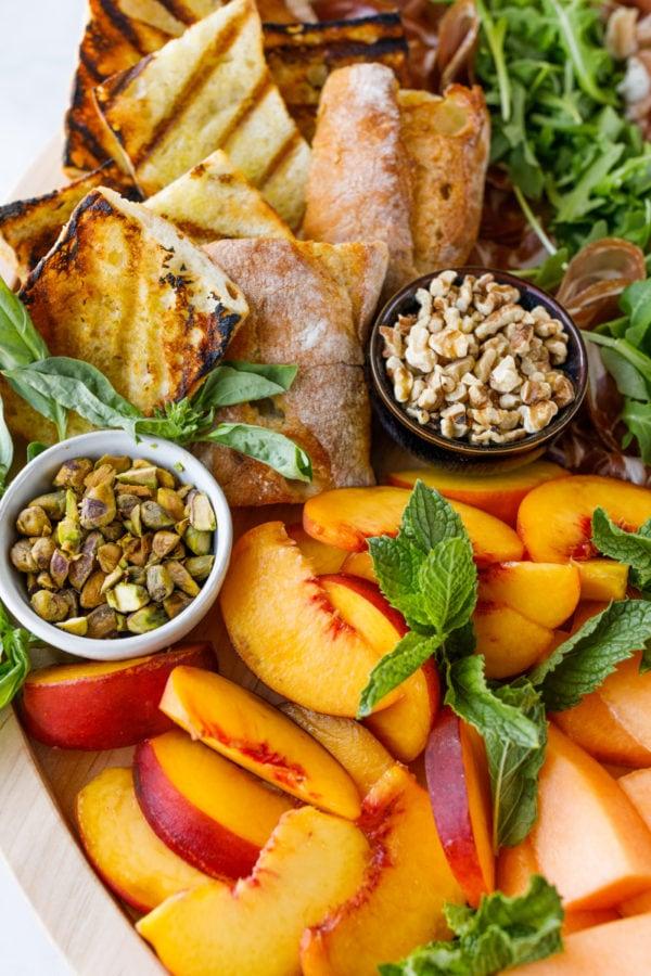 fruit and burrata