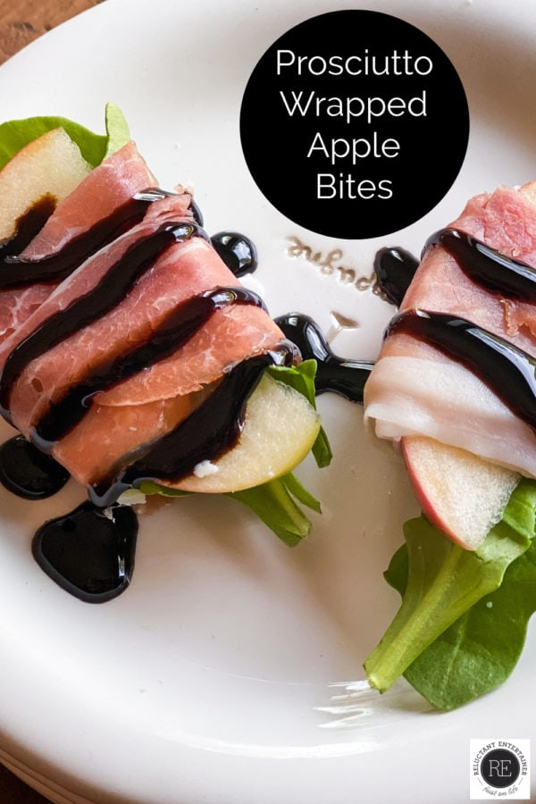 drizzled balsamic on Prosciutto Wrapped Apple Bites
