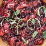 Strawberry Shallot Balsamic Reduction