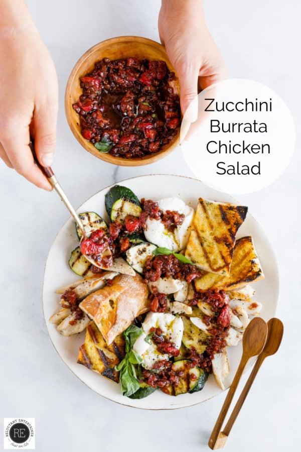 Zucchini Burrata Chicken Salad