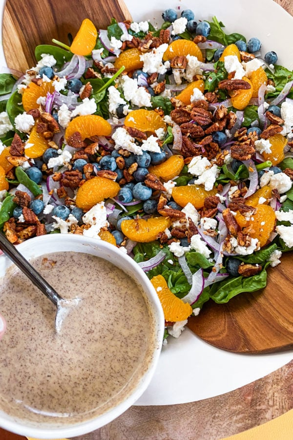 blueberry salad with poppyseed dressing