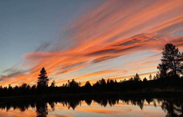 sunset at Sunriver Resort