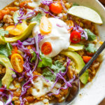 Butternut Squash Hatch Green Chili with toppings