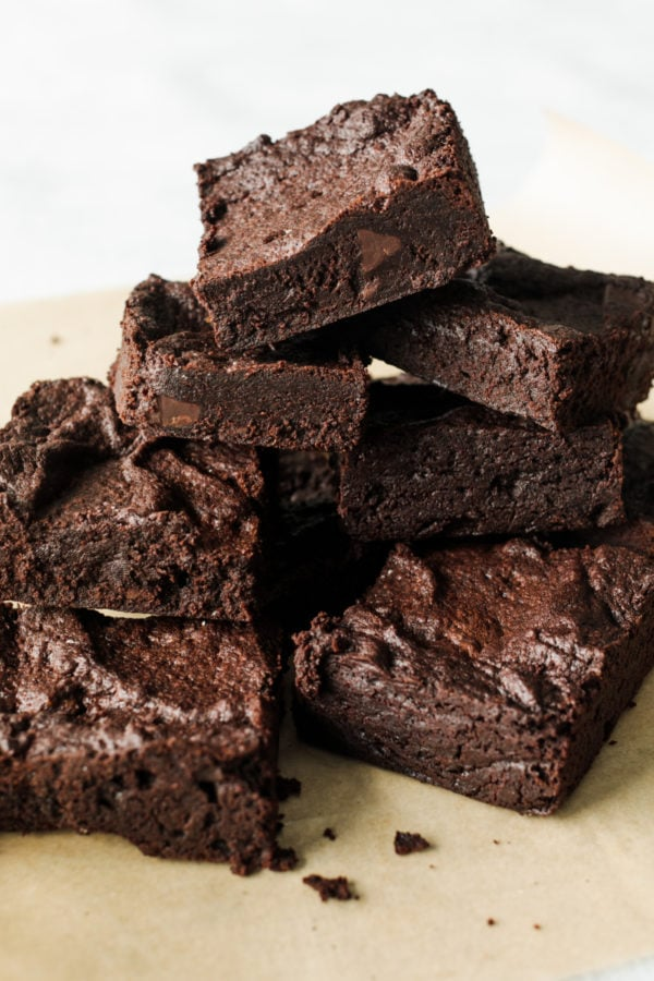 stacked brownie squares