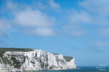 Last view of the white cliffs for a while.