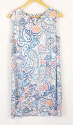 Kachel Silk Paisley Dress 12