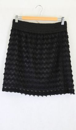Avocado Black Lace Mini Skirt 15